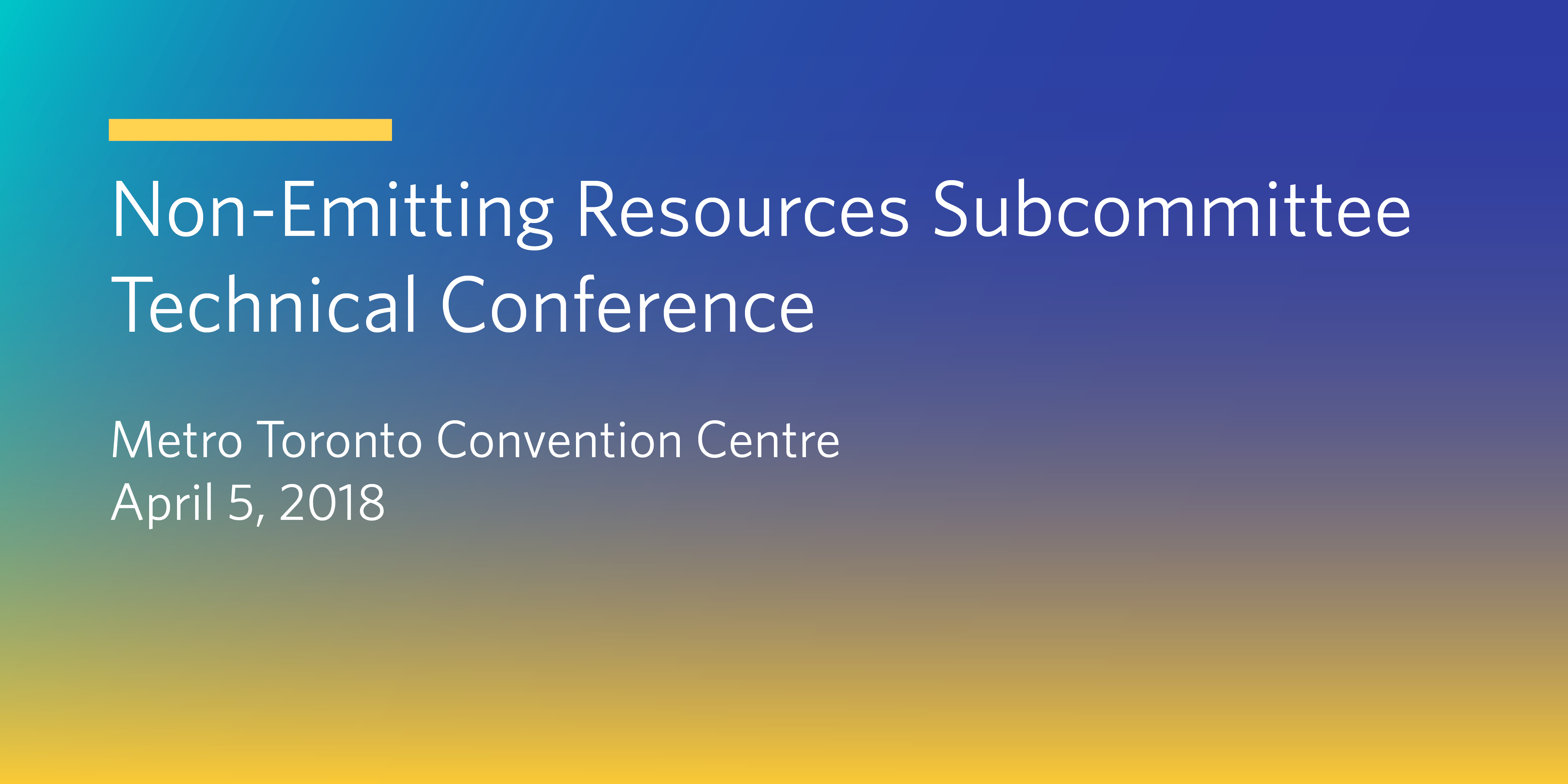 Non-Emitting Resource Subcommittee Technical Conference