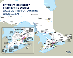 Map of Ontario's local distribution companies