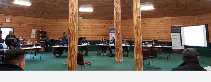 A 2016 long-term planning consultation at the roundhouse in Nigigoonsiminikaning First Nation