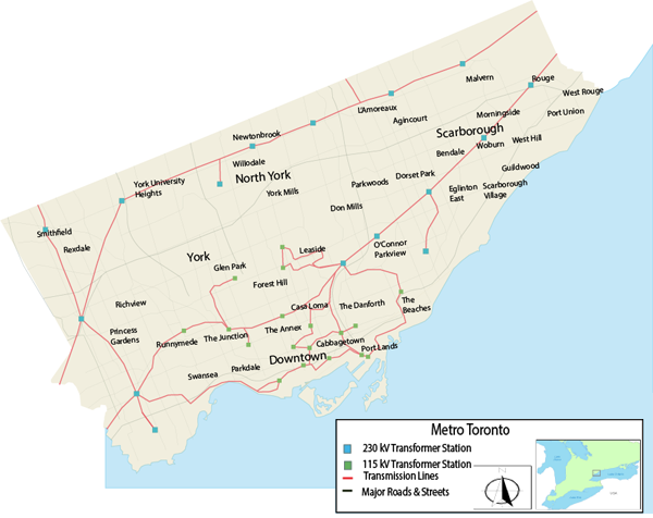 click for lkarger version of Toronto Planning Region