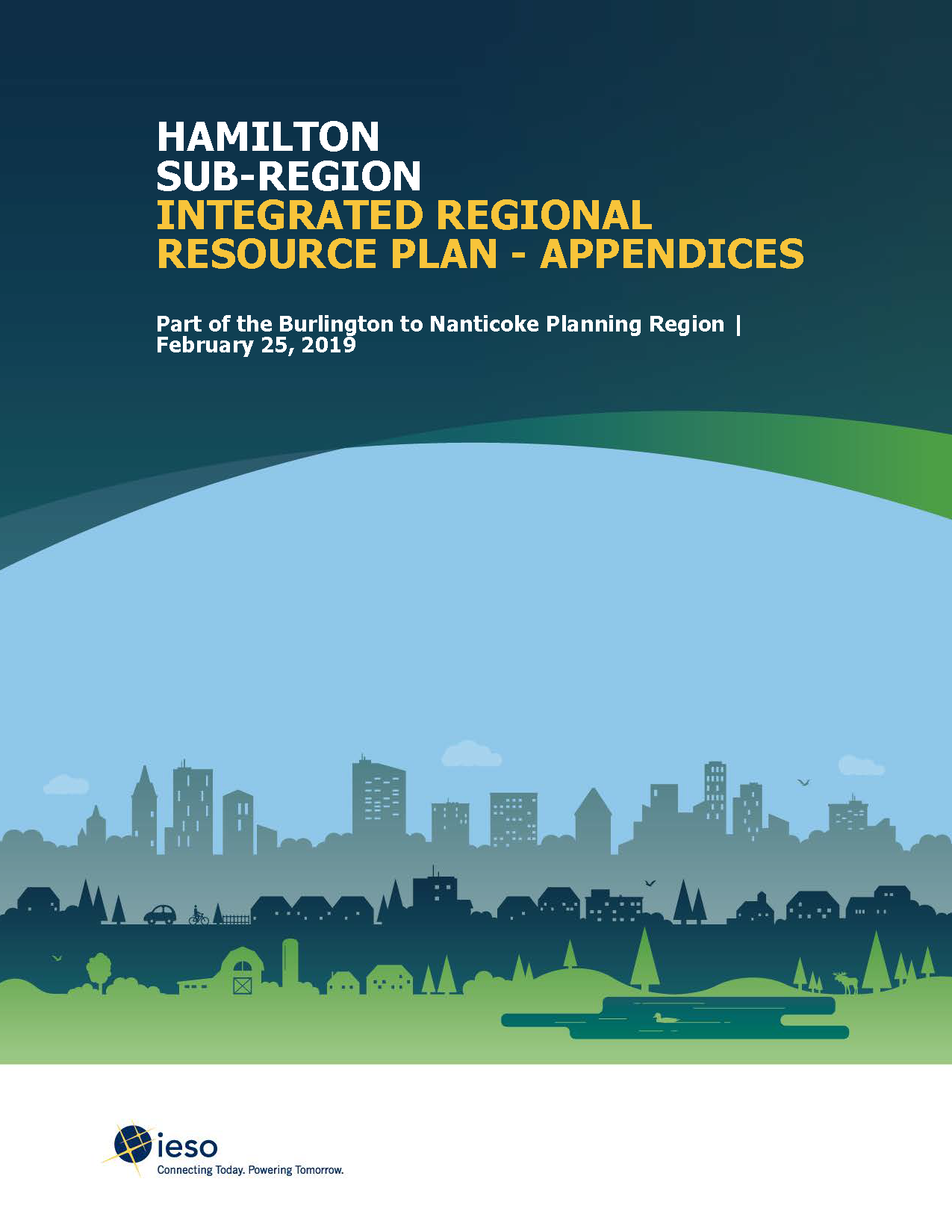 Hamilton Sub-Region Integrated Regional Resource Plan Appendices Cover