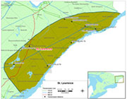 St.Lawrence region Map