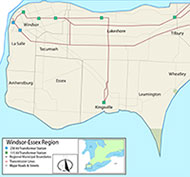Map of Windsor Essex