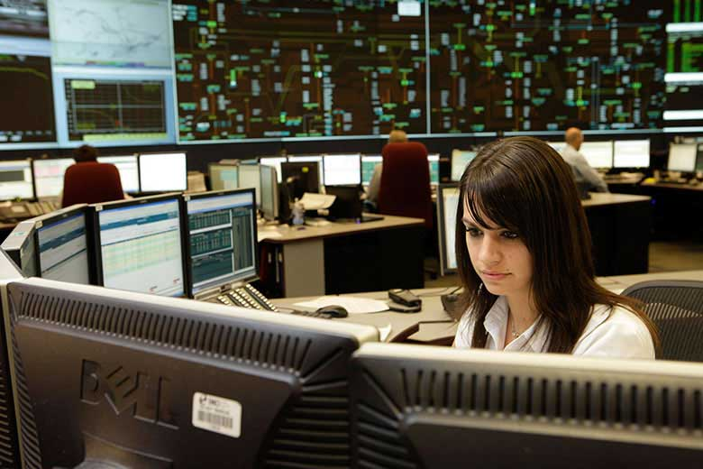 IESO control room operator at work